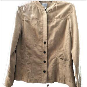 CHICO'S button blazer with pockets.